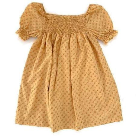kids long live the queen babydoll dress - yellow graphic