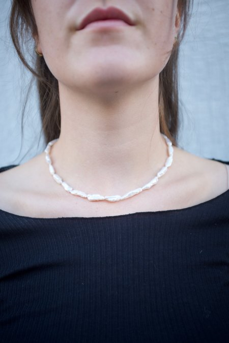 Machete Biwa Pearl Necklace - Pearl