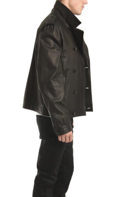 Simon Spurr 10 Button Trench Jacket - Black