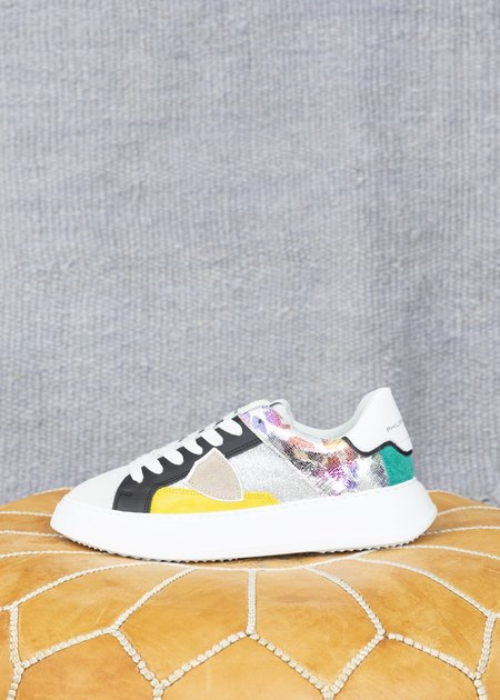 Philippe Model Women's Temple Fancy Pop Sneaker - White/Multi