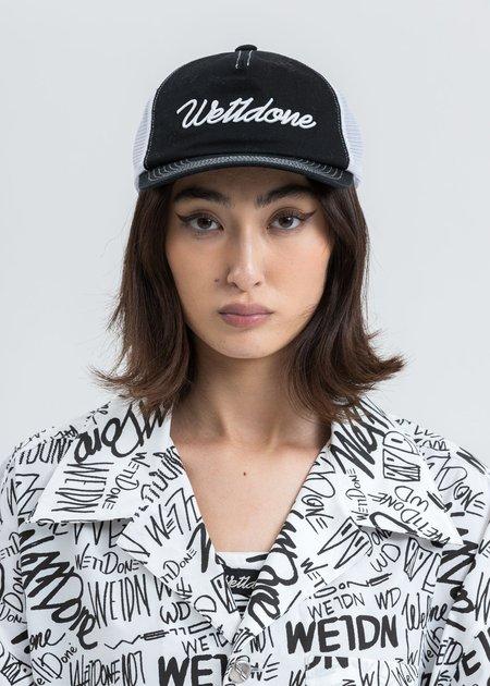 we11done Big Logo Embroidered Cap - black