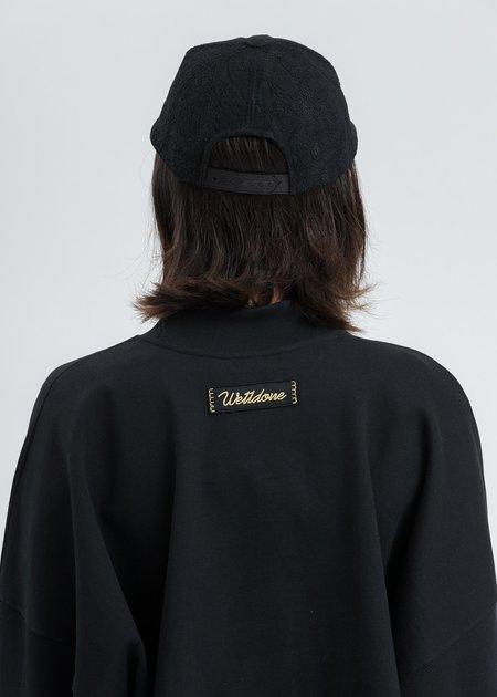 we11done Logo Lace Cap - black
