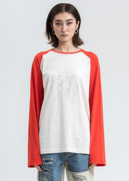 we11done Monster Long Sleeve Raglan Shirt - Red