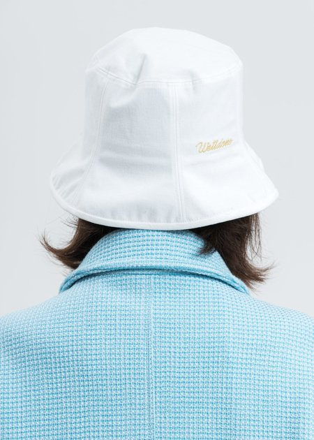 we11done Seven Panel Bucket Hat - white