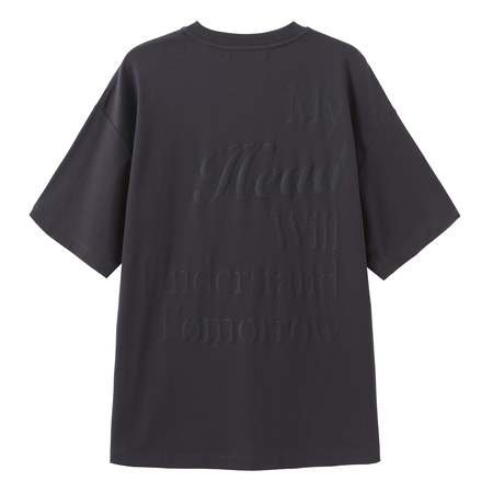 Unisex Matter Matters Oversized Long Tee With Pockets - My Heart/Charcoal