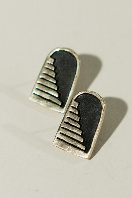 Therese Kuempel Entrance Earrings - Brass/sterling silver