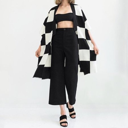 Laurs Kemp Checkered Silk Patchwork Lounge Jacket
