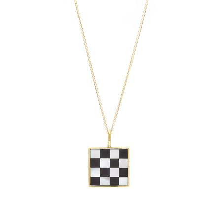 Unisex Tarin Thomas Samuel Necklace - Checkered