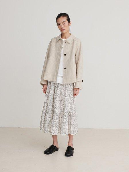 skall studio Shiro skirt - White/Grey print