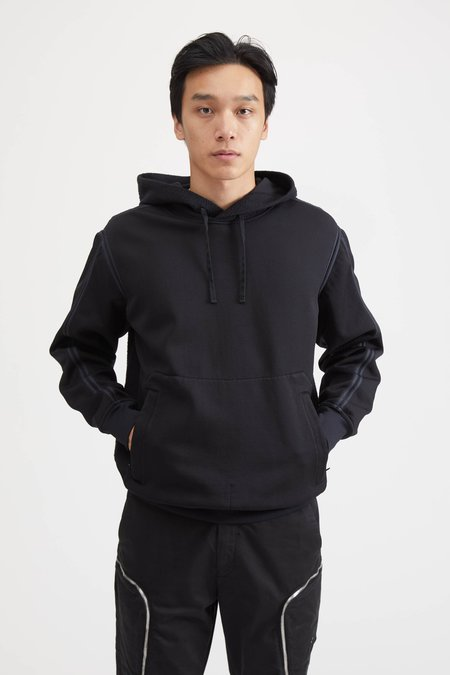 Stone Island Shadow Project Felpa Nylon Hooded Sweatshirt - Black