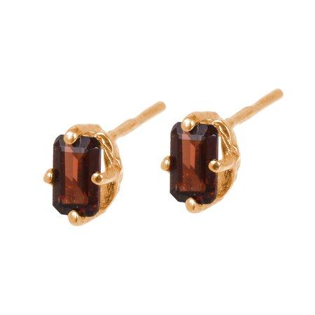 Tarin Thomas Jordan Garnet Earrings