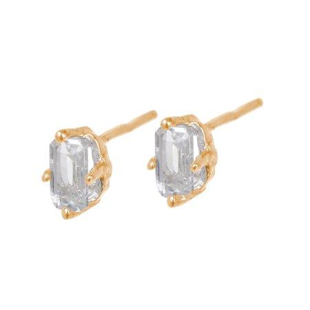Tarin Thomas Jordan White Topaz Earrings