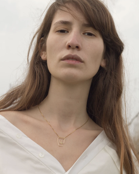 Knobbly Studio Deconstructed nude Necklace - Gold vermeil