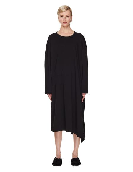 Y's Asymmetric Dress - Black