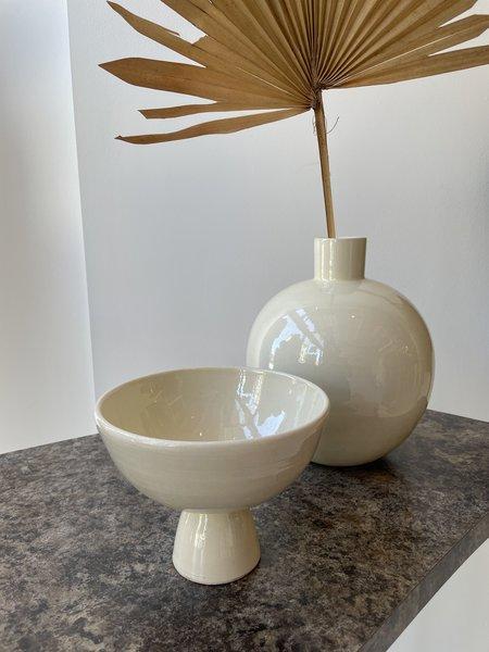 Matagalan Plantae Caliz 13 cm tall Vase -  White