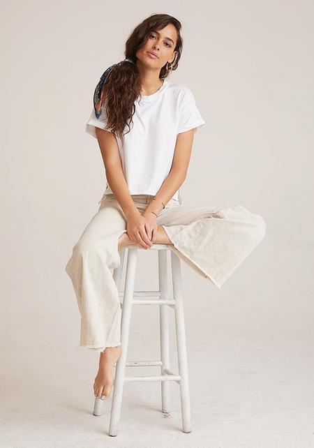 Bella Dahl Boxy Roll Sleeve Tee - White
