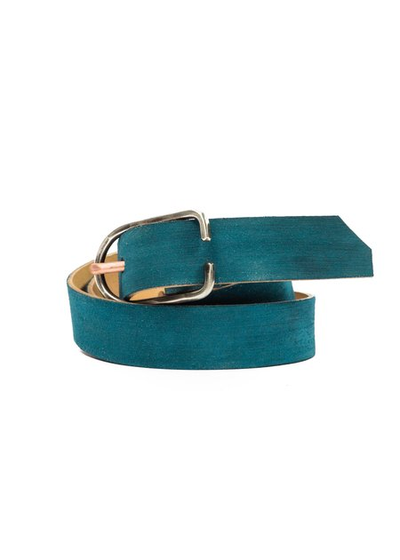 CAUSE AND EFFECT BLUE SUEDE ROUGH OUT BELT