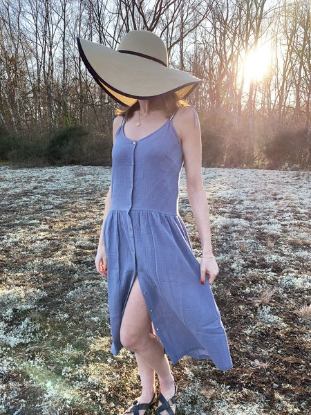 Petite Lucette Irene Dress - Thistle Blue