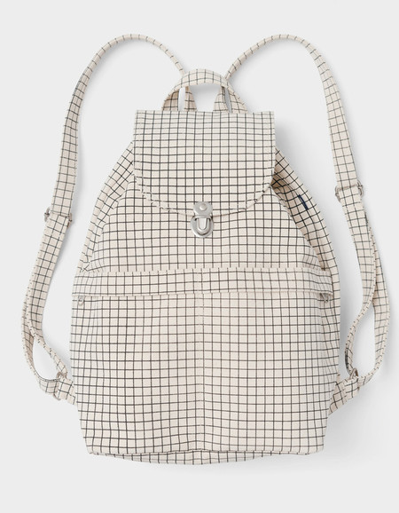 Baggu Backpack Natural Grid
