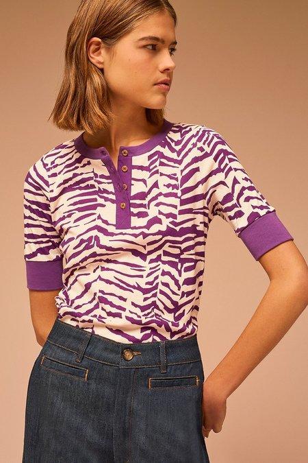 Soeur Monalisa Top - Cream/Purple