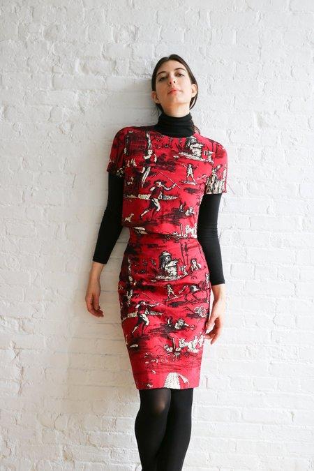 [Pre-loved] Oscar de la Renta Quilted Midi Skirt