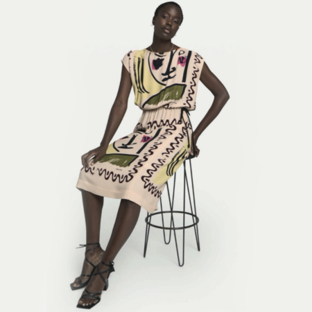Ottod'Ame Face Print Dress