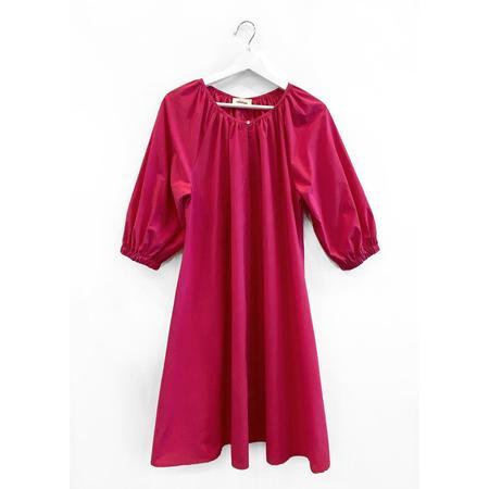 Ottod'Ame Smock Dress - Fuschia
