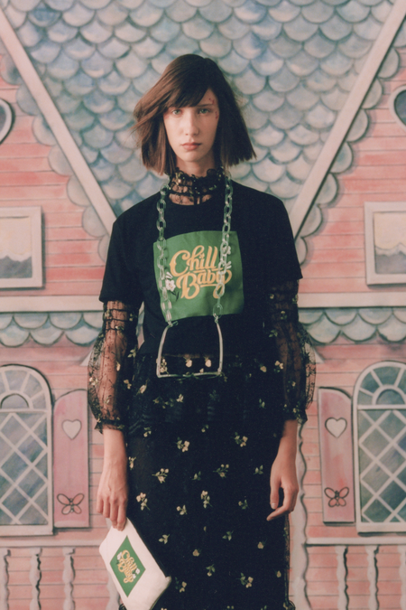 Anna Sui Chill Baby Cropped T Shirt - Black Multi
