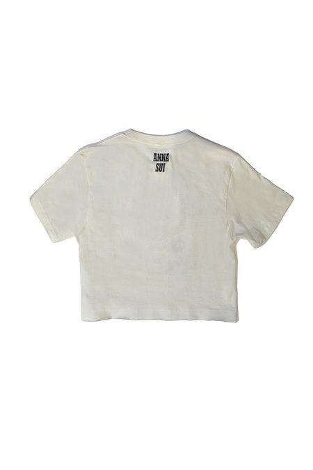 Anna Sui Take Care T Shirt - Cream Multi