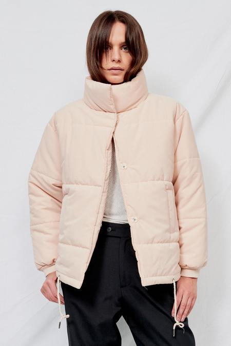 Assembly Puffer Coat - Pale Beige