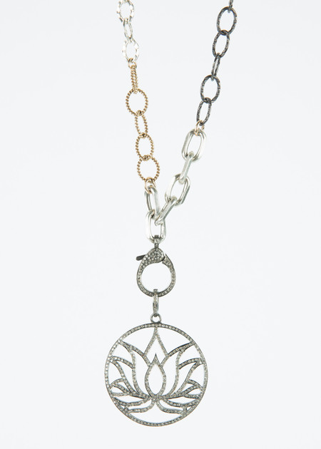 Jewels by Piper Lotus Flower Pendant Necklace