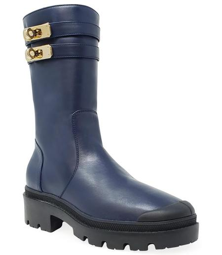 Madison Maison By Palladium Shearling Double Buckle Boot - Mid Blue