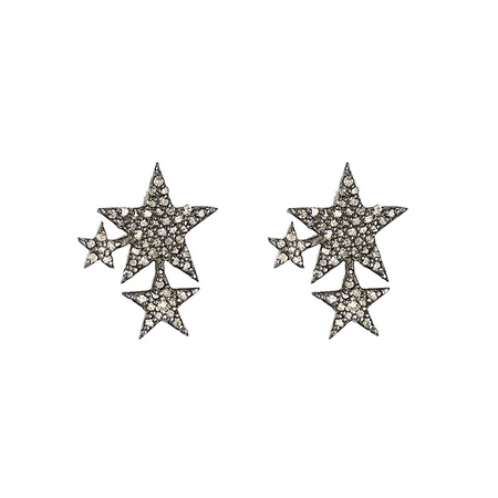 Ashley Schenkein Diamond Triple Star stud