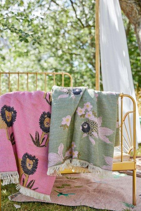 Kids Rice Lions Blanket - Bubblegum Pink