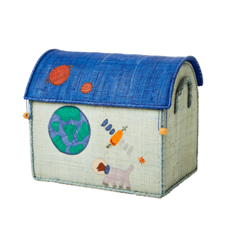 Kids Rice Small Toy Basket - Space Design