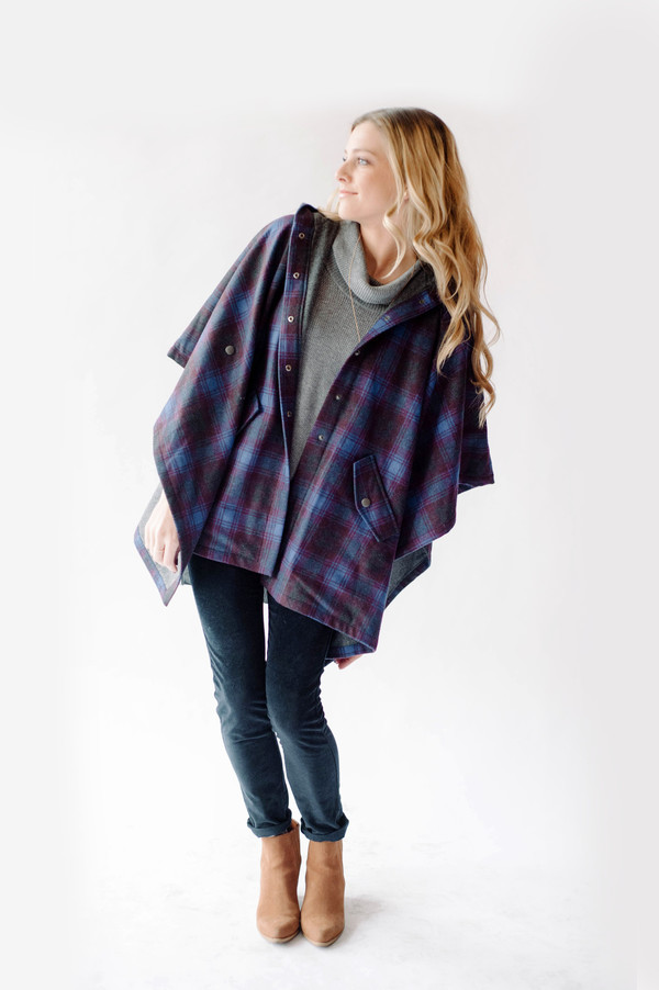 Bridge & Burn Lea Plaid Poncho