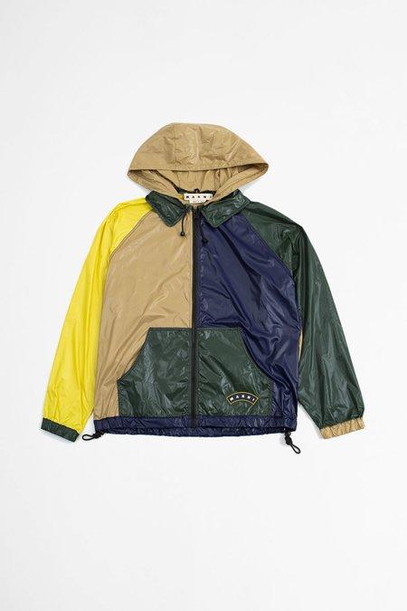 Marni Colour-block Hooded Jacket - Multi