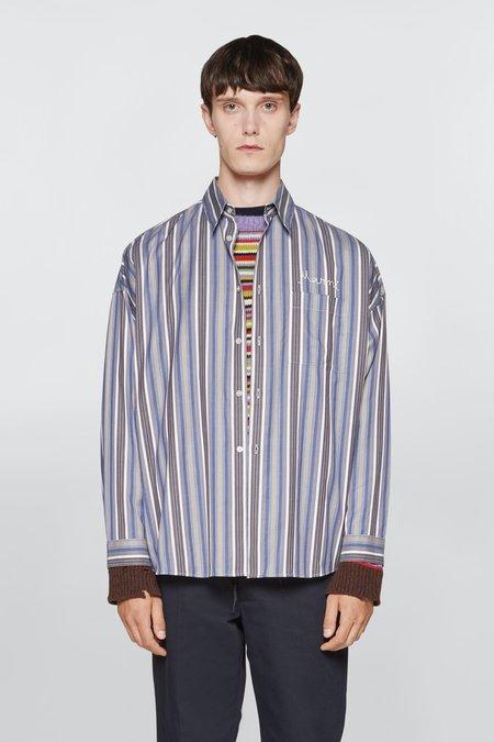 Marni Striped Embroidered Logo Shirt - Multicolour