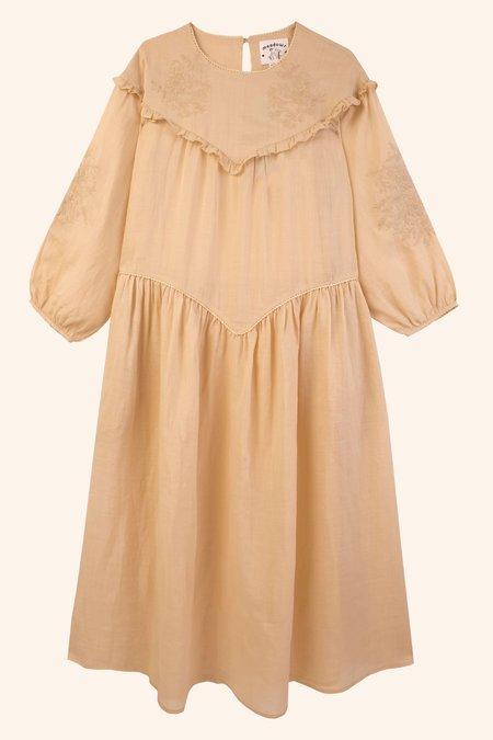 Meadows Camellia Dress - Oatmeal
