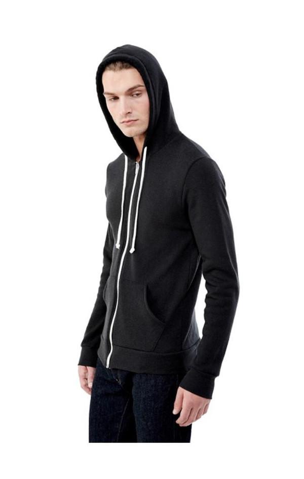 Men's Alternative Apparel Rocky Eco-Fleece Zip Hoodie