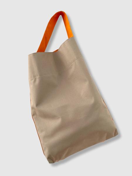 Kaan The Ottertex Waterproof Canvas Bucket Tote - Khaki/Orange