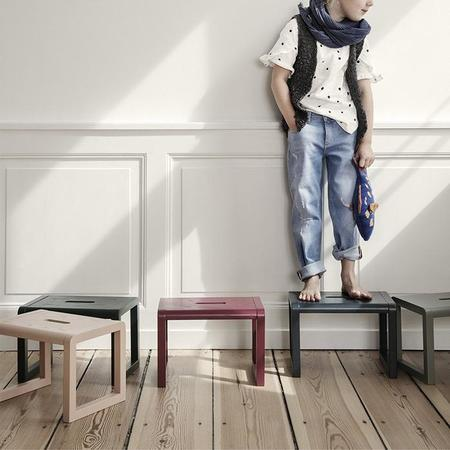 Kids Ferm Living Little Architect Stool - Grey