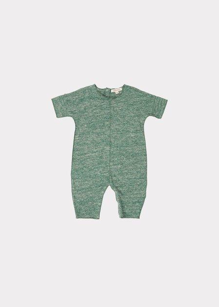 kids Sea Grass Baby Romper - Green Melange