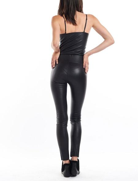 SPRWMN Ankle Leather Leggings - Black