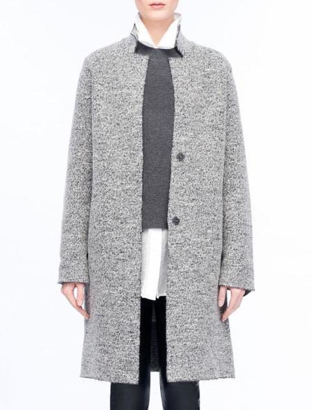 Line Knitwear Blythe Coat - Sabre Grey