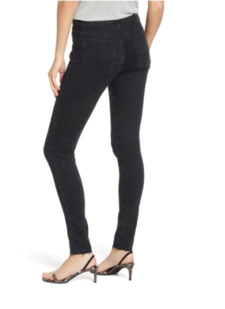 AG Jeans Farrah Skinny Ankle Altered Clean Raw Hem jeans - Black