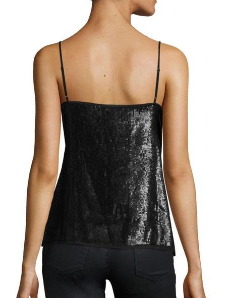 Joie Gowa Sequin Top - Black