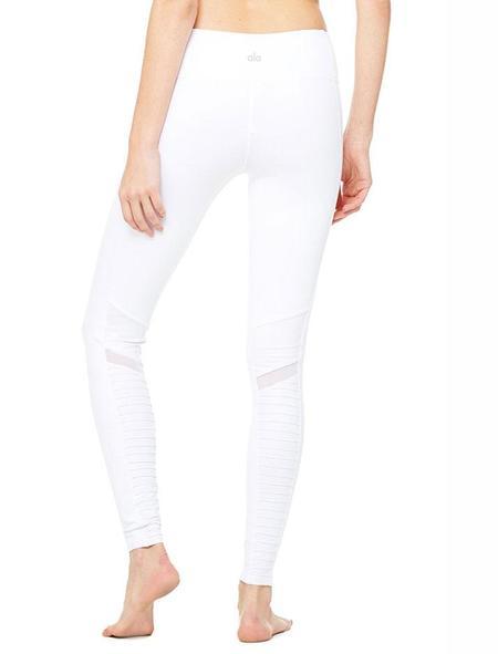Alo Yoga High waist moto legging - white