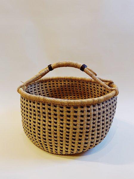 Swahili Modern bolga basket -  Black dot pattern