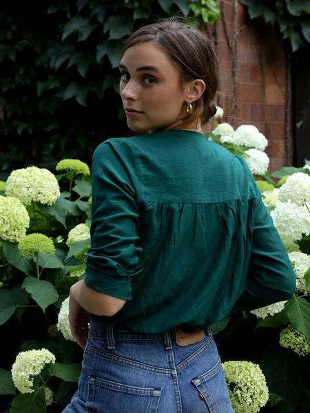 Mille Florian Top - Emerald Voile